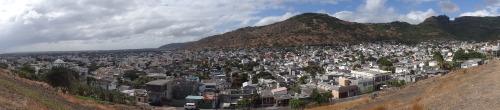 Vues panoramiques de Port-Louis, prises du haut de la Citadelle