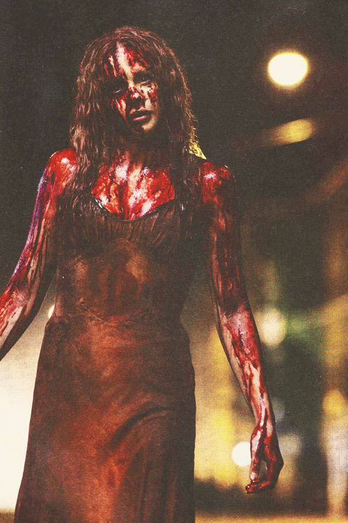 Chloe Moretz as Carrie featured in Empire Magazine