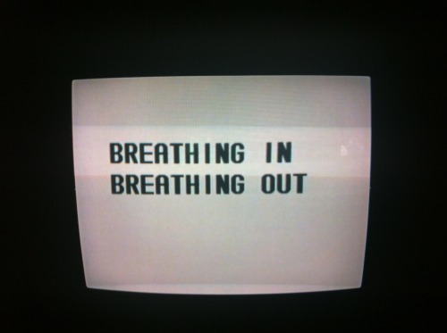 Breathing in Breathing out