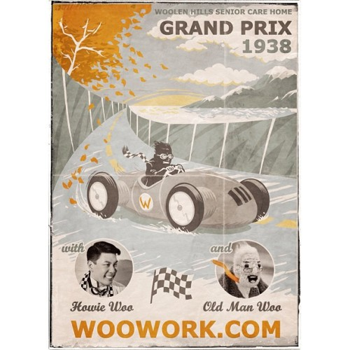 Poster for the GrandPrix I raced in 1938. Details at WooWork.com in a couple days.