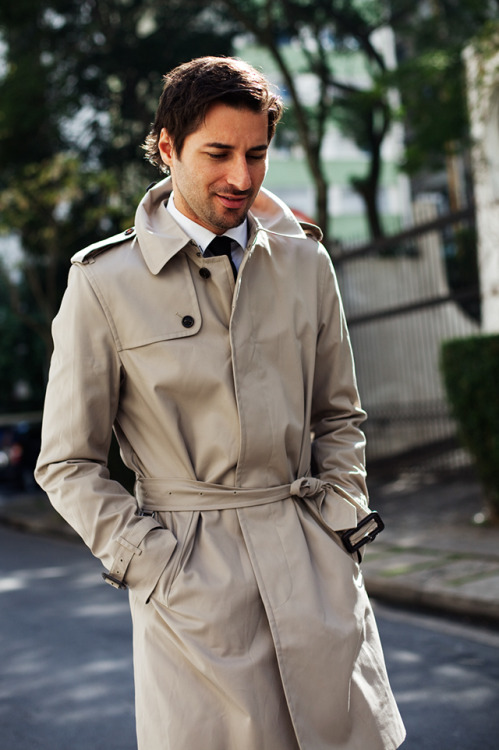 burberry:  Renato  Photographed by The Sartorialist in Brazil