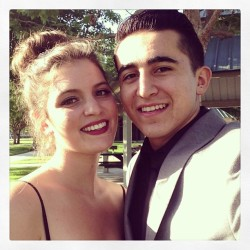 My beautiful date and I #Prom #2013