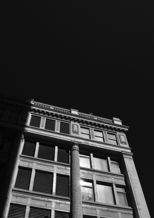 Dark Architecture Downtown Vancouver