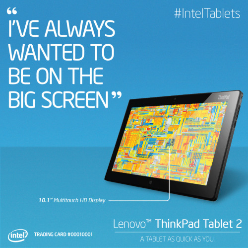 Client: Intel Created weekly promo graphics on Intel's facebook page to celebrate the launch of their new line of Tablets
