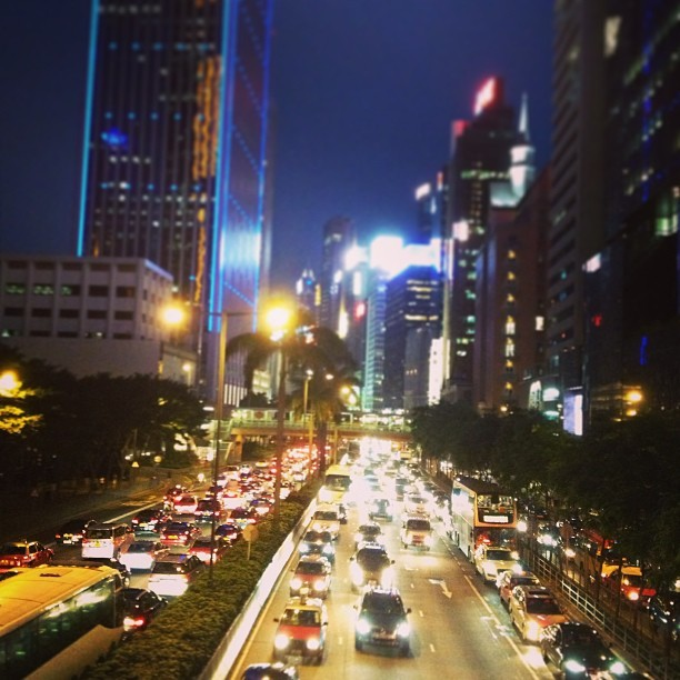 jennifercwlee:  City lights. #hkig  City lights.
