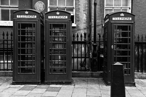 patdomingo:  # 4 of 365, telephone booths in soho, london.