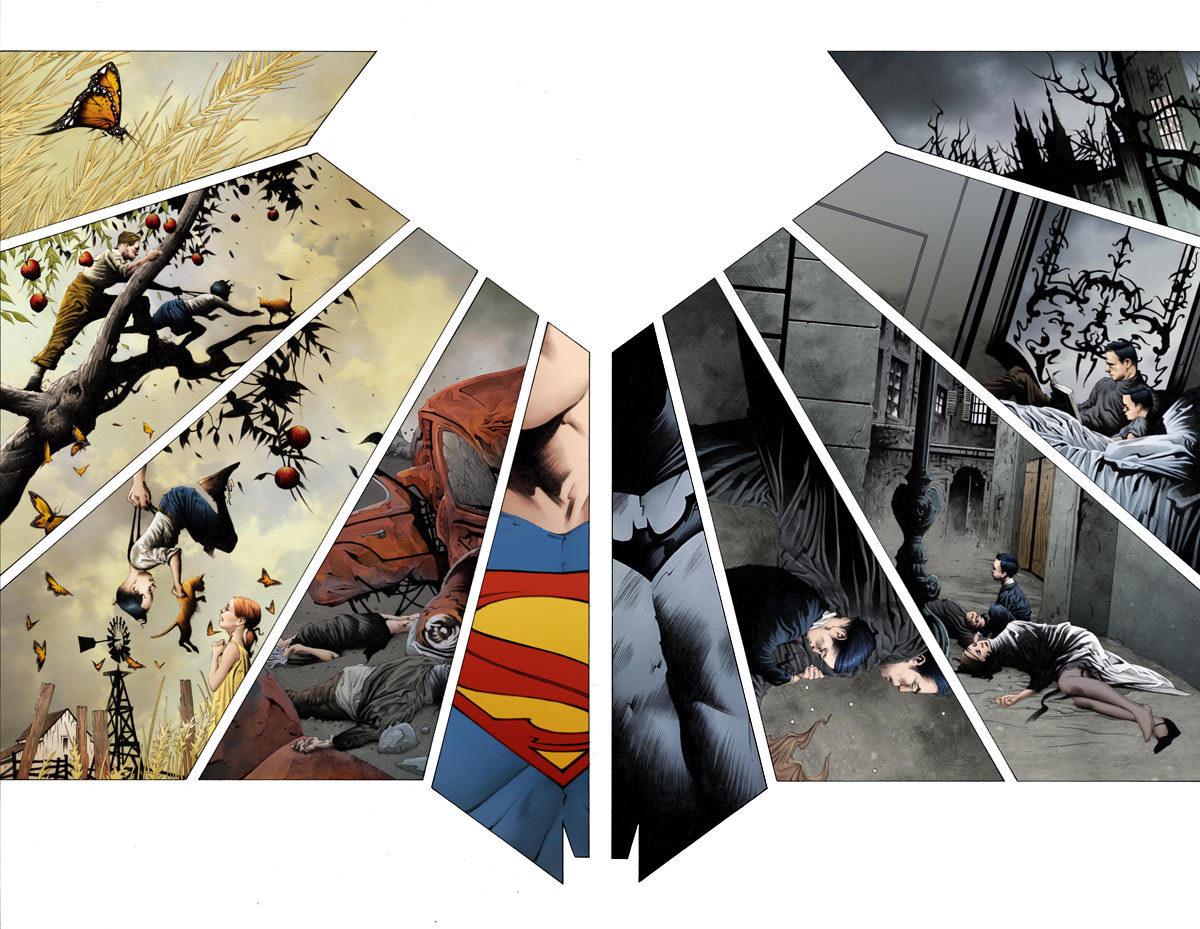 "matthew-online:  Art by Jae Lee from the upcoming ""Batman/Superman"" book Also, wow."