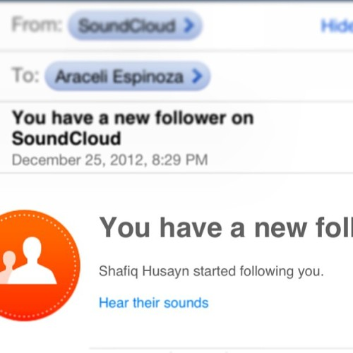 #shafiqhusayn following me? Whaaaaaat??!!! #soundcloud