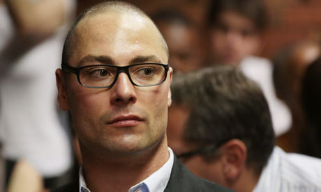 "Oscar Pistorius' brother also facing charges in homicide case For a story already loaded with twists, here's another: It's been revealed that Oscar Pistorius' brother, Carl, is facing a culpable homicide trial for his alleged role in the 2008 death of a female motorcyclist. Carl denies being at fault for the accident. ""Blood tests conducted by the police at the time proved that he had not been under the influence of alcohol, confirming that it was a tragic road accident after the deceased collided with Carl's car,"" said his lawyer, Kenny Oldwage. The charges, which had been at one point withdrawn, were reinstated in the wake of Oscar's case… which is similar to what happened to former investigator Hilton Botha. (photo by Tj Lemon/EPA)"