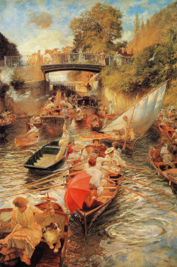 moika-palace:  Boulter's Lock, Sunday Afternoon by Edward John Gregory, 1897-1898.