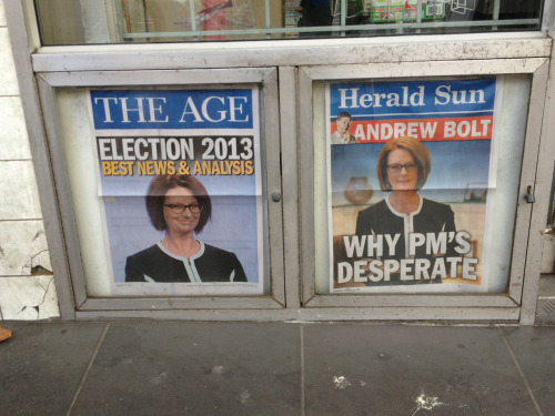 Says it all really: news and analysis on one side, Andrew Bolt's bile on the other.