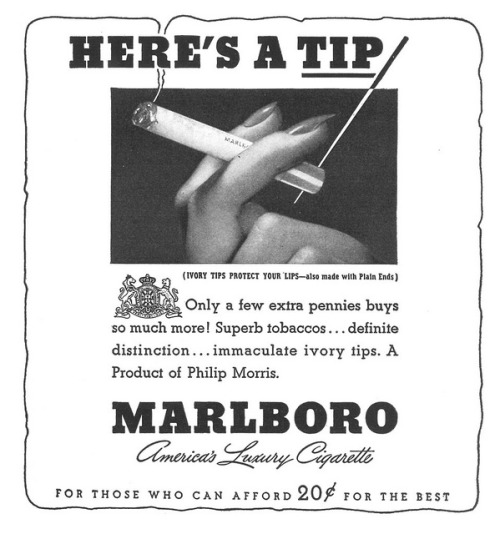 vintascope:  Marlboro - 19391111 New Yorker on Flickr.
