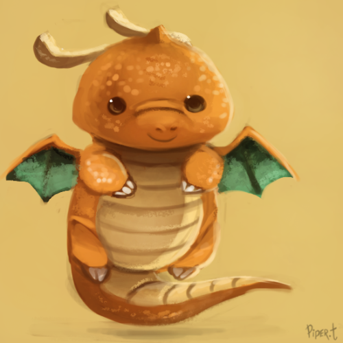cryptid-creations:  DAY 177. Dragonite (10 Minutes) by *Cryptid-Creations Because I'm tired and lazy. Still got one last project to finish editing.