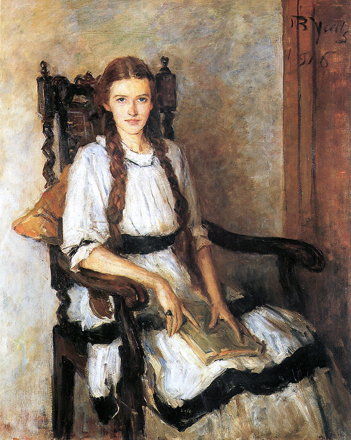 the-faces-of-art:  john butler yeats, portrait of mary lapsley caughey, 1916 (x)