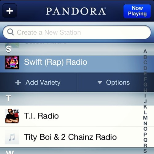 It's official.. Got a channel on #Pandora. Go add it right now!!