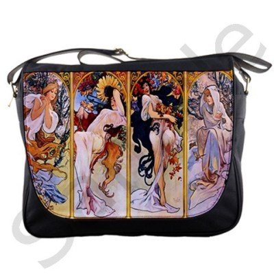 mandamacabre:  (via Four Seasons By Alphonse Mucha 1895 Messenger Bag from Manda's Macabre)