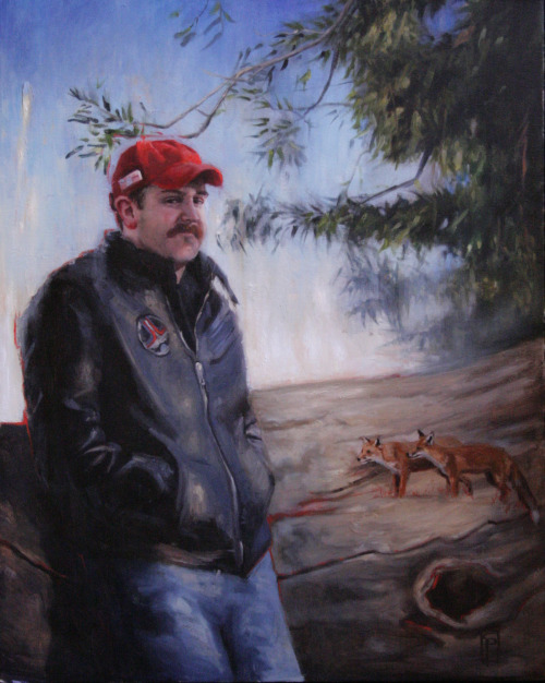"Back from The Man Show: ""Outside the Fox Hole"", Oil on Canvas, 30x24"", ©2013"
