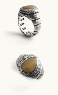inessusaeta:  New exclusive Ring with beach stone // Antique Sterling Silver