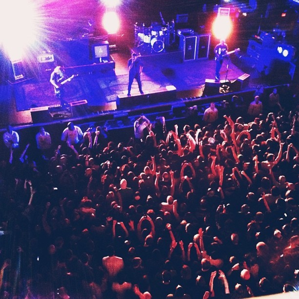 Deftones in ATL #deftones #atlanta #tabernacle #chino #crowd #vscocam  (at The Tabernacle)