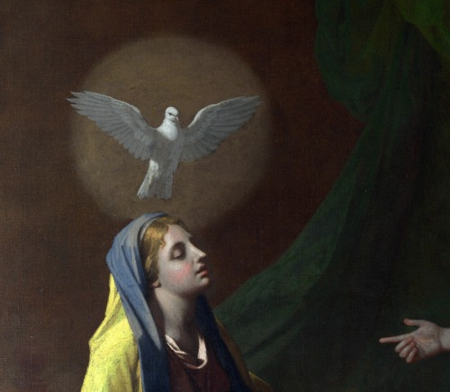 nataliakoptseva:  Nicolas Poussin - The Annunciation Detail