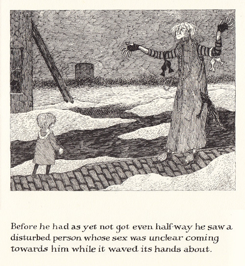 explore-blog:  A surviving copy of Edward Gorey's limited-edition lost gem The Green Beads, digitized.