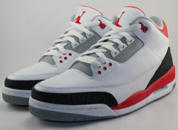 "Air Jordan III: ""Fire Red"" – Release Date 08/03/2013 via jordansdaily.com"