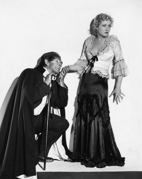 Fredric March and Miriam Hopkins in Dr. Jekyll and Mr. Hyde (1931).