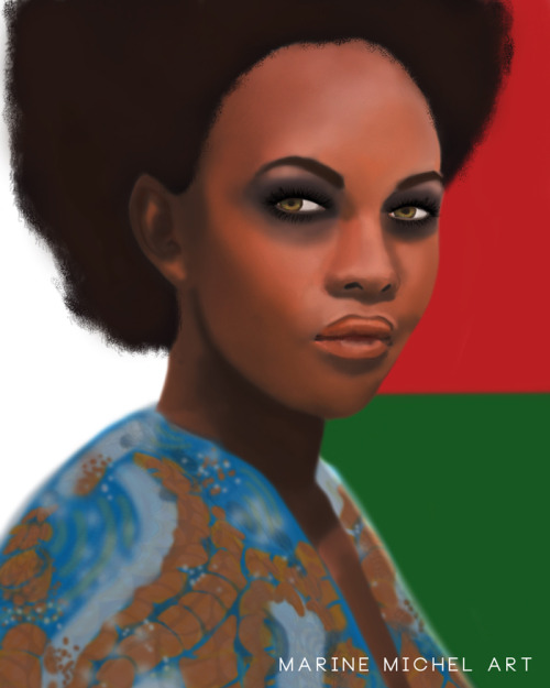 fuckyeablackart:  Queen of Madagascar by ~frozenfingerz  My links, click to see more (follow me):ART / Black women .