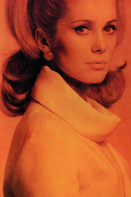 Catherine Deneuve photographed by Helmut Newton, Vogue France, April, 1962.