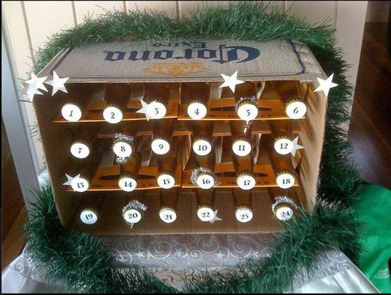 collegehumor:  Beer Advent Calendar  Why eat chocolate when you can eat drunk?