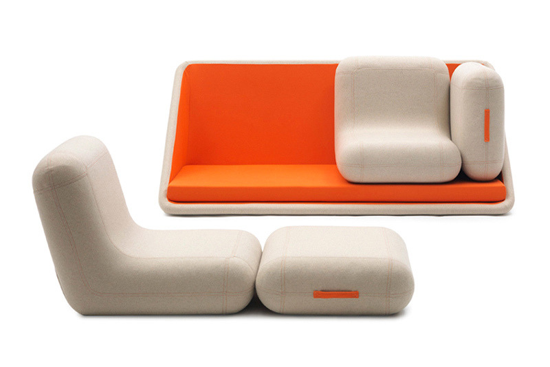 Modular sofa design by Matali Crasset.