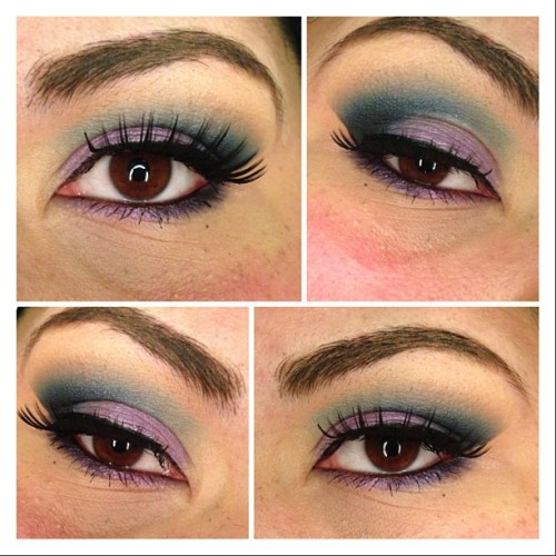 Purple and blue (galaxyish) #makeupmonday 🌟💫