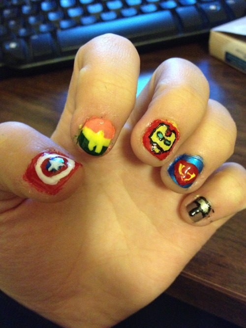 Super hero nails