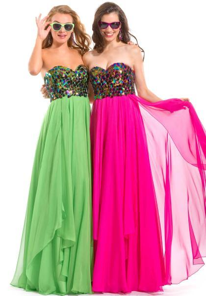 Found these dresses on Google Images.  Which of the following do you find prettier? Please answer thoroughly.