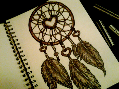 i-n-k:  dreamcatcher tattoo design I drew today