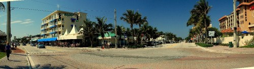 Cool shot of Atlantic Avenue in Delray Beach, Florida.