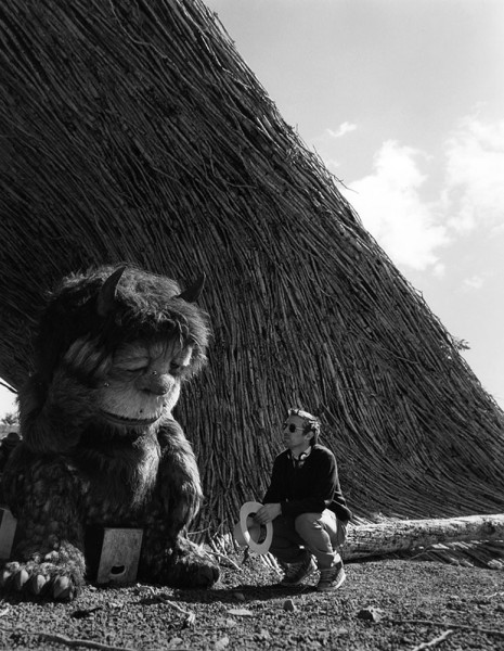 fuckyeahdirectors:  Spike Jonze on the set of Where the Wild Things Are (2009)