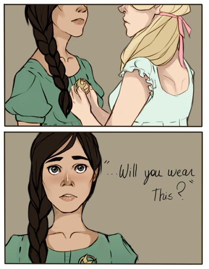 Katniss and Madge by *Nani-Mi I love this.
