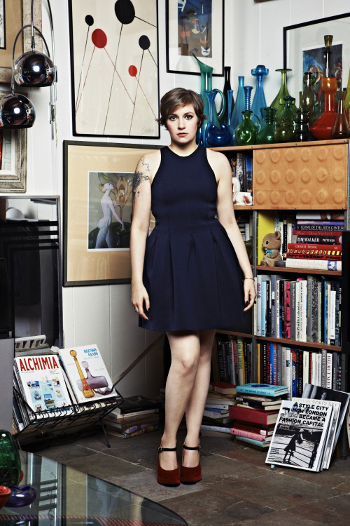 ladyinterior:  Lena Dunham by Danielle Levitt for Glamour, December 2012.