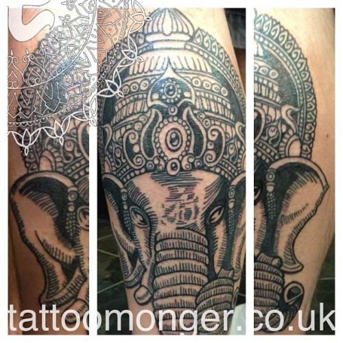 Lovey Ganesha inspired by Cryptik street art #tattoo #cryptik #tattoomonger #davidbarclay #blackwork #indiangod #ganesha #lordgenesh #hindu #deities #om (at london tattoo)    David Barclay Tattoomonger  @London Tattoo London, England www.tattoomonger.co.uk Tel: 020 7833 5996