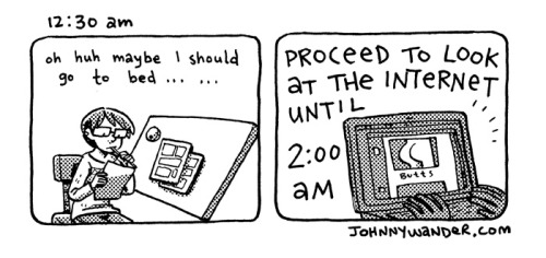 Hourly Comics: 2013 We posted the second half of my 2013 hourly comics over at Johnny Wander!  Man, I was extra boring this year.  Although this is pretty much what my average day looks like; work a lot and don't leave the apartment. And again, here are some of my older hourly comics!