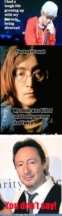 Poor Julian Lennon
