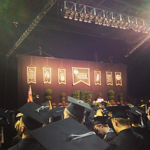 Pre my #graduation. #ucf#orlando#college#knights (at UCF Arena)