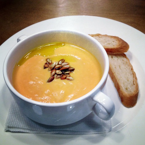 pumpkin soup $3.6 at Chashka espresso bar, Kiev, Ukraine