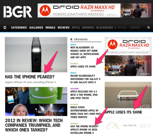 It is so fashionable to hate Apple these days… Look at the BGR Web site this week.