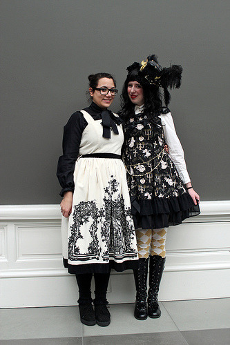 Saltje and Josine at the February Belgian Cupcakes Lolita fashion meet.  MSK Ghent - Belgium - 24.2.2013