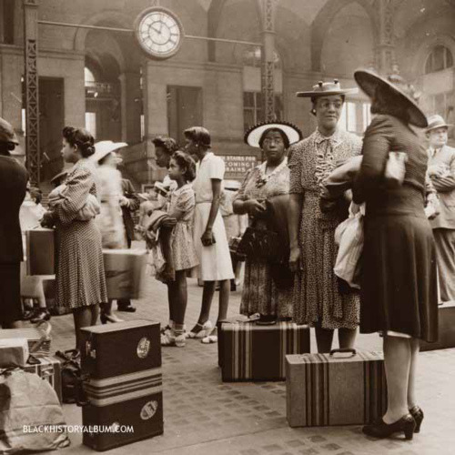Midnight Train to Georgia | 1942 A group of African American women waiting for their trains at the Pennsylvania railroad station, New York City, 1942. via Black History Album, The Way We WereFollow us on TUMBLR  PINTEREST  FACEBOOK  TWITTER