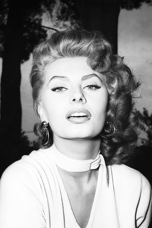 Sophia Loren promotional shoot for La fortuna di essere donna (Lucky to Be a Woman), 1954.