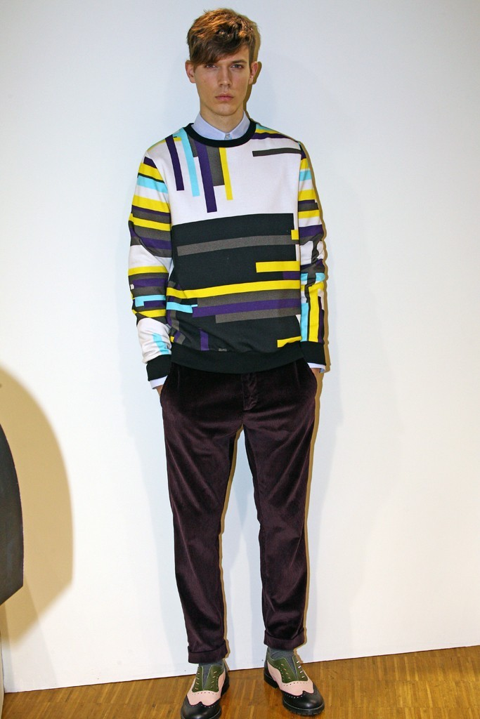womensweardaily:   MSGM Men's RTW Fall 2013 Photo by Piero Cristaldi Creative director Massimo Giorgetti used his playful, ironic touch to successfully rework classic sportswear staples.  For More WWD.com's complete coverage of Men's RTW Fall 2013