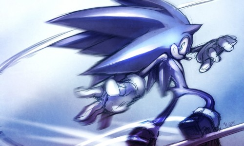 Faster than the speed of sound, the blue blur himself SONIC THE HEDGEHOG!